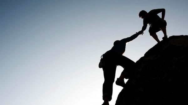 Climbers Hand Up